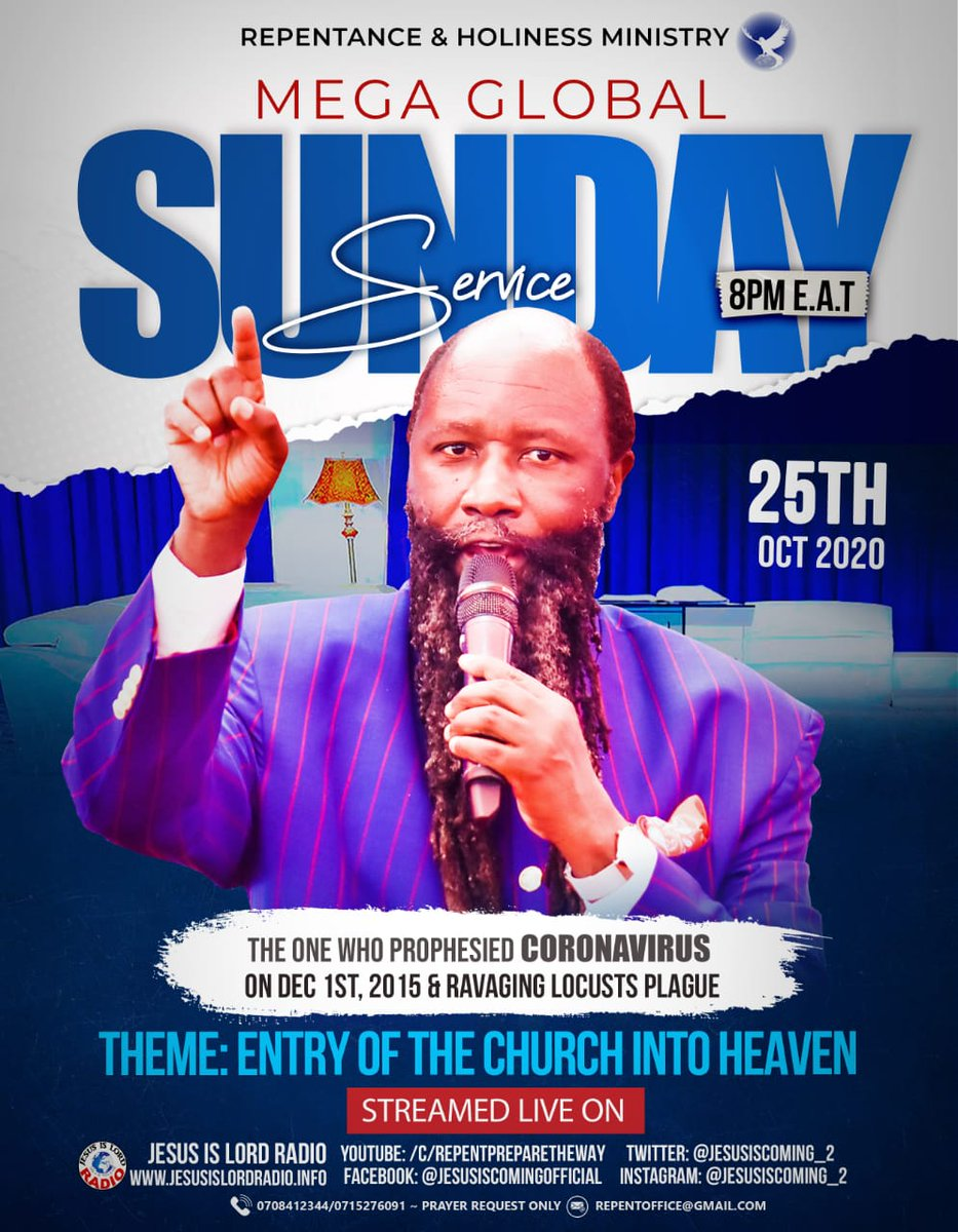 #SuperSundayRevival  *around 12PM. EST 1) Live streaming VIDEO:  https://t.co/4rGLlHsItg  2) Tune in for AUDIO: https://t.co/NT4WeLNtX0  http://31.14.40.208:8000/;stream.mp3  Stay tuned to https://t.co/sUOyq9sivY for updates.  Shalom! #SaloneTwitter #Freetown #SierraLeone https://t.co/zDQGD1QrgR