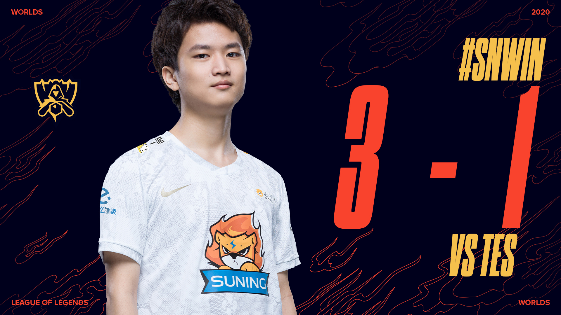 Suning took down TOP Esports in the second Worlds semifinals