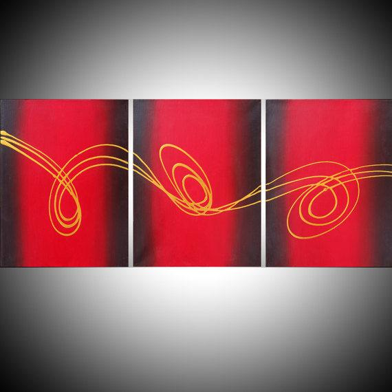 affordable wall art triptych art 3 panel original https://t.co/NNLwye3LBY #art #painting #abstract #originalpainting #tryptich https://t.co/PkwJoKlY8o