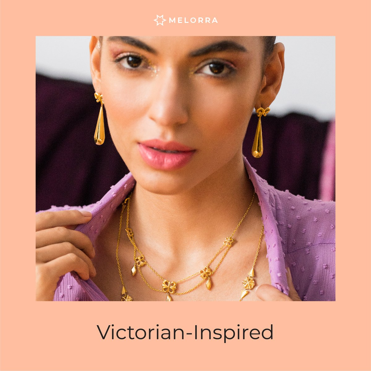 If you've been looking to upgrade your jewellery wardrobe with the new season's winning pieces, now is the time. Our edit here will convince you to get your shopping carts filling. Check it out now. 🧡 Shop Now >   #Melorra #ArtOf24X7Fashion #FineJewellery