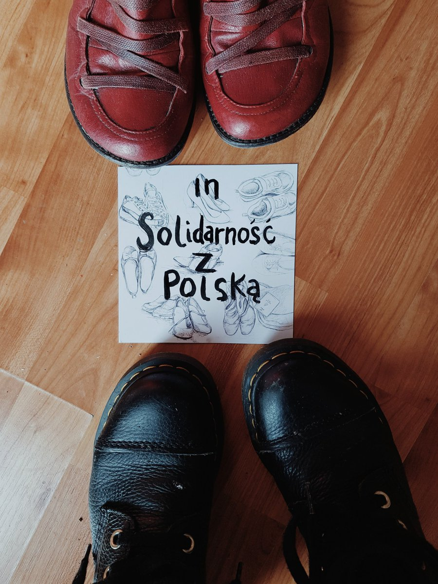 We walk in the shoes of our siblings in Poland.  You are power, with the ancestors of one thousand years ago behind you - be safe.   #WyrokNaKobiety #AborcjaBezGranic #PiekloKobiet  @aborcjaadt @abortionsupport @WomenHelpOrg @WoWabortionpill @notesfrompoland https://t.co/zaZ4YBXBGo