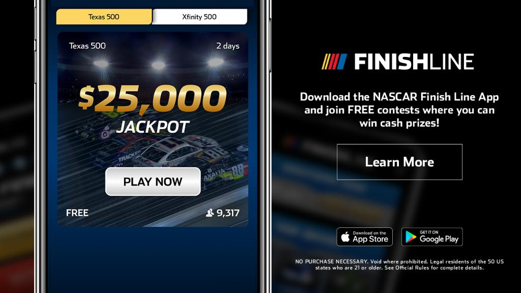 Dont miss your chance to win big! Download the NASCAR Finish Line app today and you could win cash prizes for free. 📲 : nas.cr/2wgIcKX