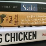 """Already time to set things up for my springtime course HLTH340: """"Food, Health, and Society"""" at @emorycollege ! Picked these fantastic books by @marynmck @DanEnRoute & Mark Kurlansky for the course! Class will be 100% online & open to 170 students!  1/4"""
