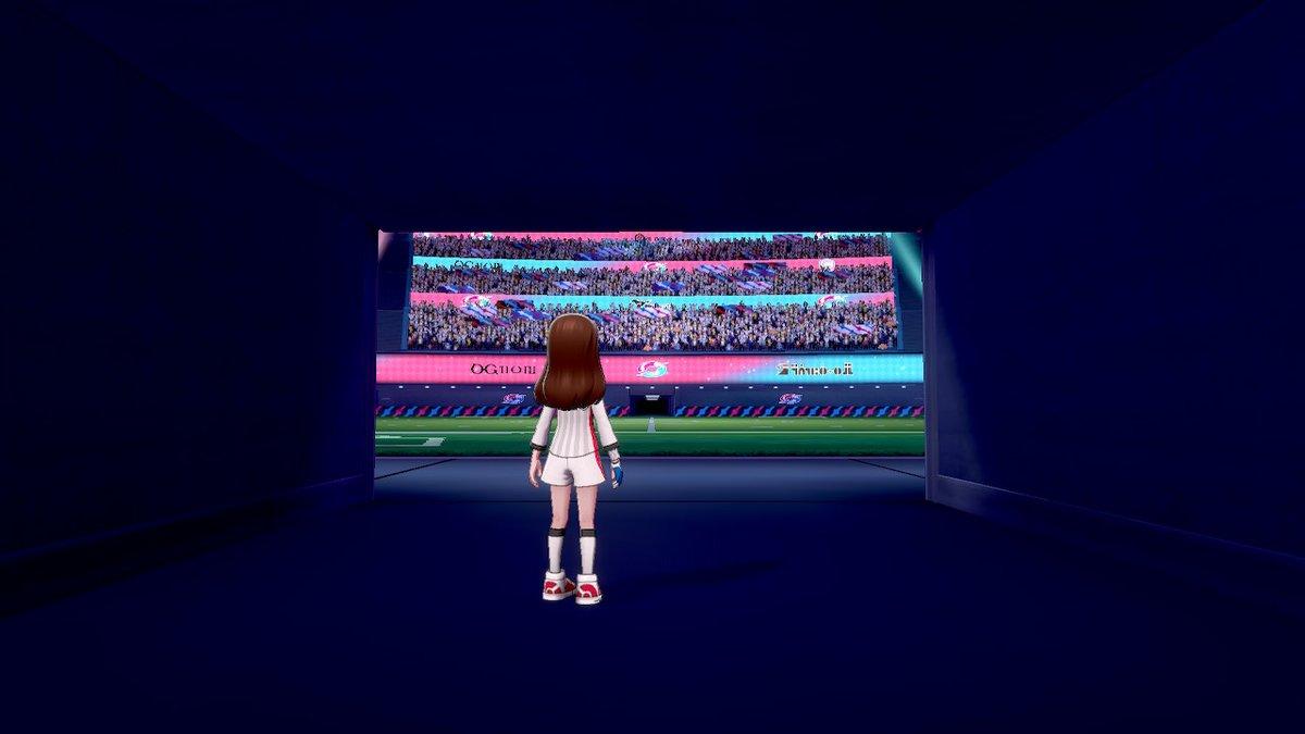 test ツイッターメディア - このスタジアムの大歓声が好きすぎて何度もやっちゃう...。 ポケモンは全シリーズやってるけど、バトルは剣盾が一番好き...。  #ポケモン剣盾 #NintendoSwitch https://t.co/SWYXEdBdwH