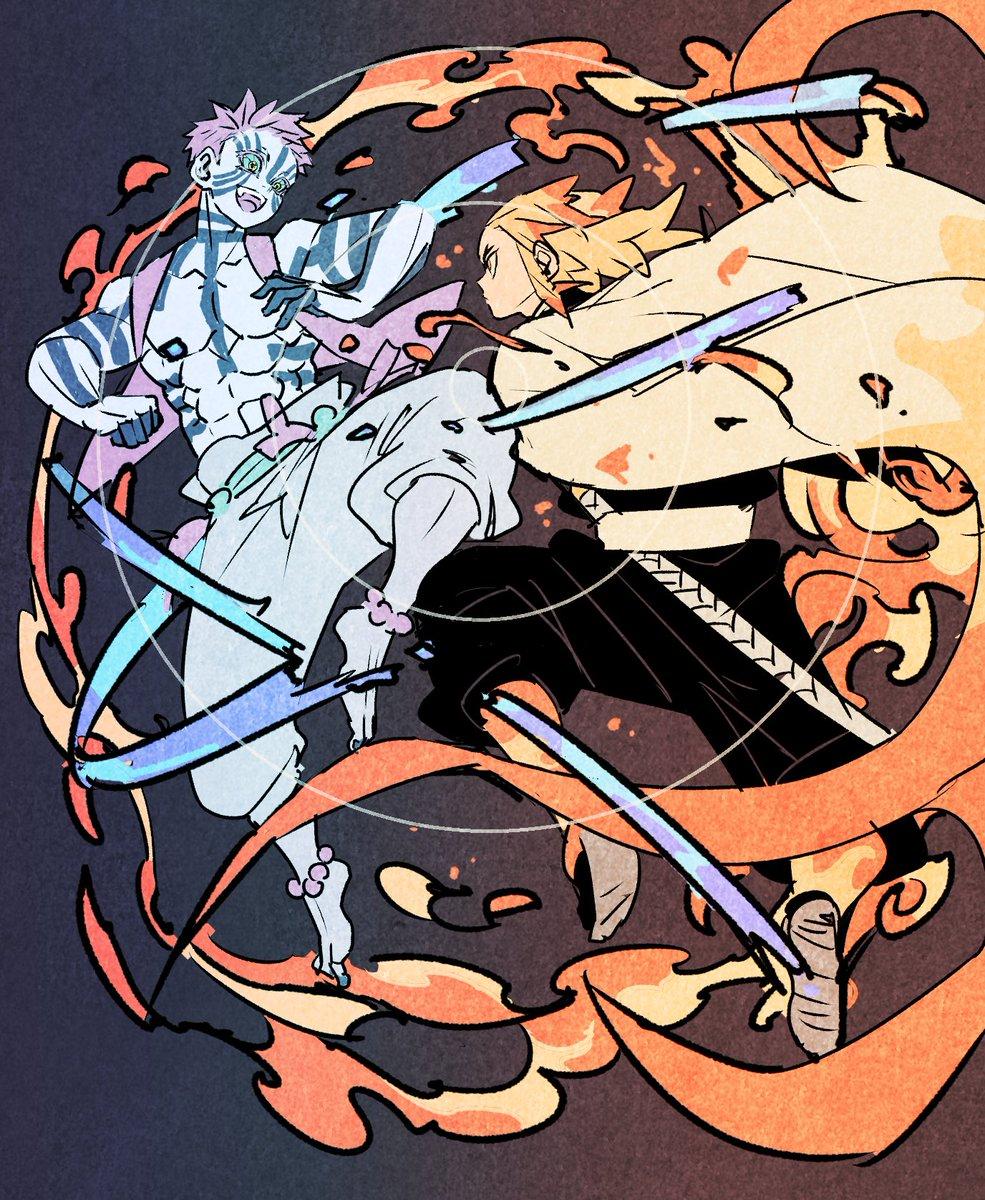 新キービジュアル記念猗窩座殿vs煉獄さん