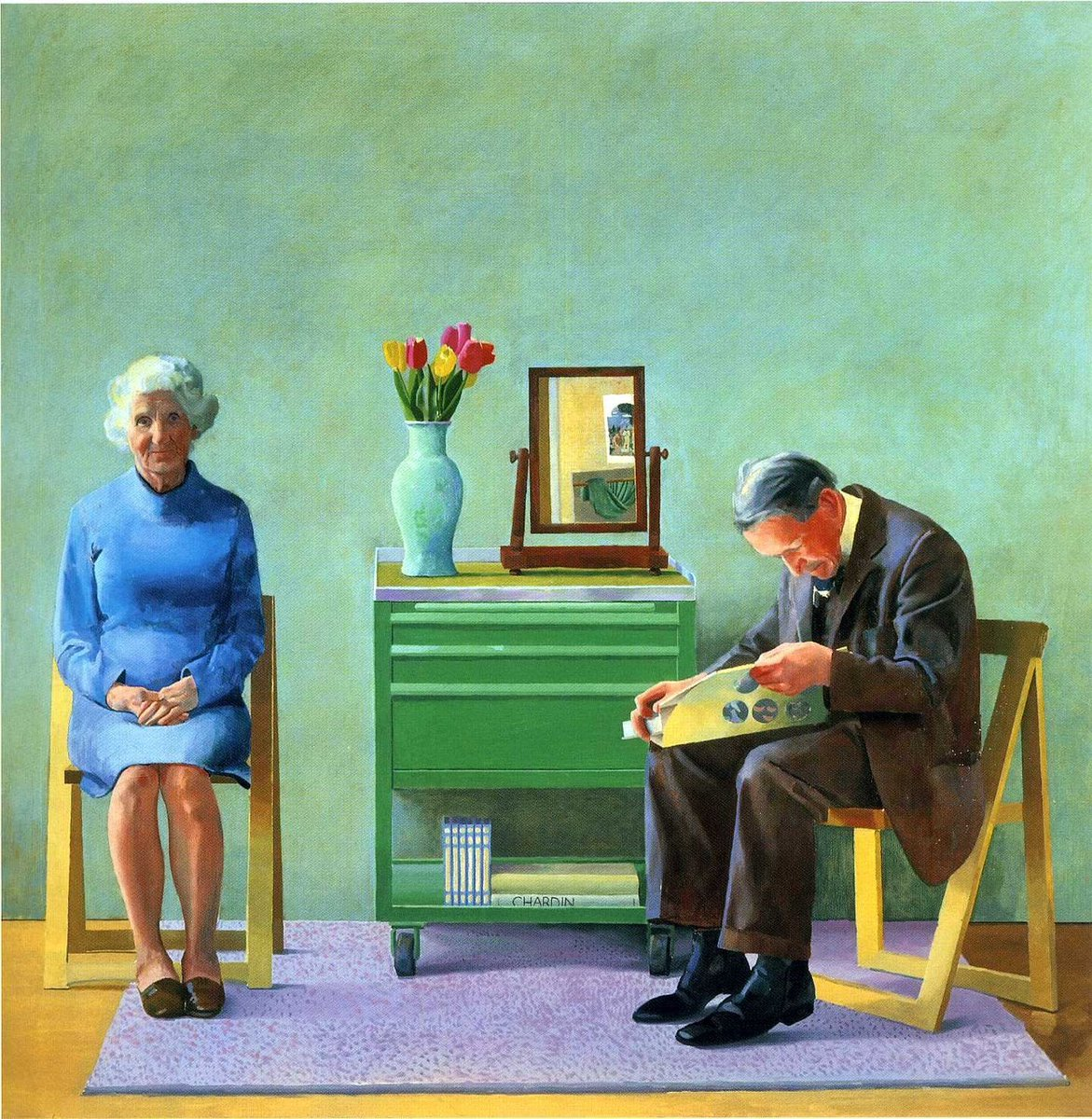 David Hockney My Parents  1977  #art #painting #kunst https://t.co/JX701io6a3