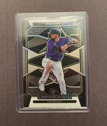 2020 Panini Chronicles Sam Hilliard #9 RC Obsidian  👉 $3 👉 https://t.co/dVNLglLp9d  @HiveCards @Hobby_Connect @HobbyConnector @mlbhobbyconnect @DailySportcards @sports_sell #roxwin #colorado #rockies #denver #tradingcards #baseballcards #baseball #whodoyoucollect #ratedrookie https://t.co/JFLGV3lRRf