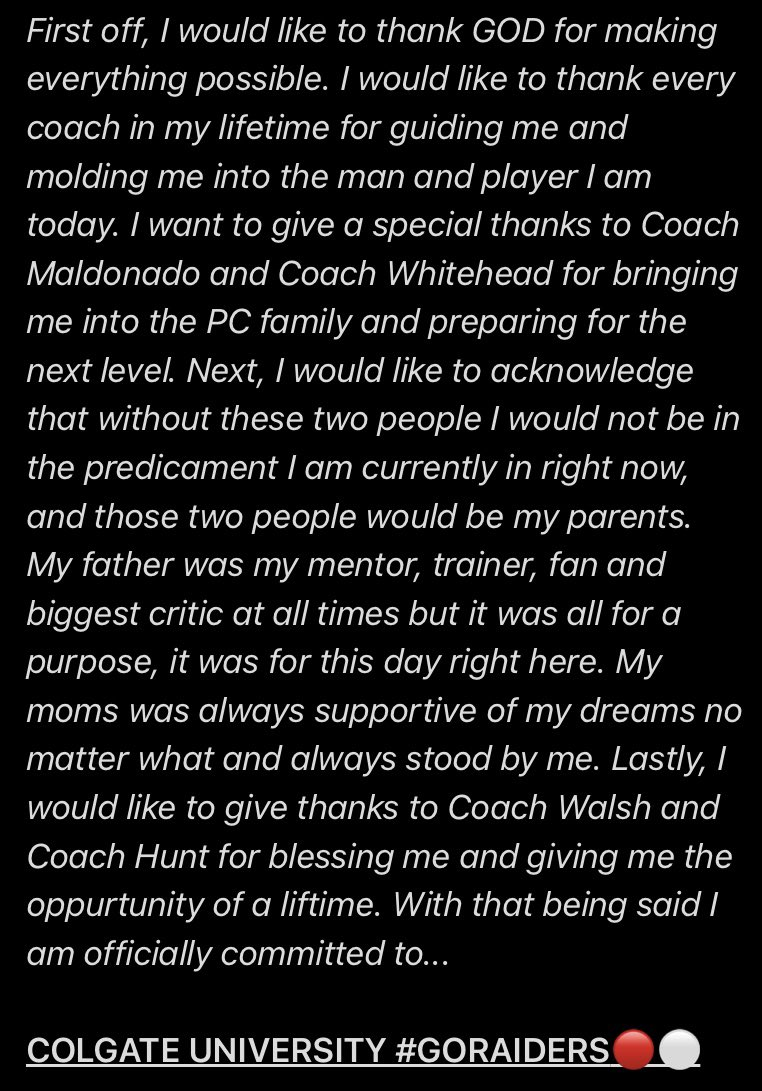 COMMITTED❕@CoachDanHunt @ColgateFB @CoachBWalsh