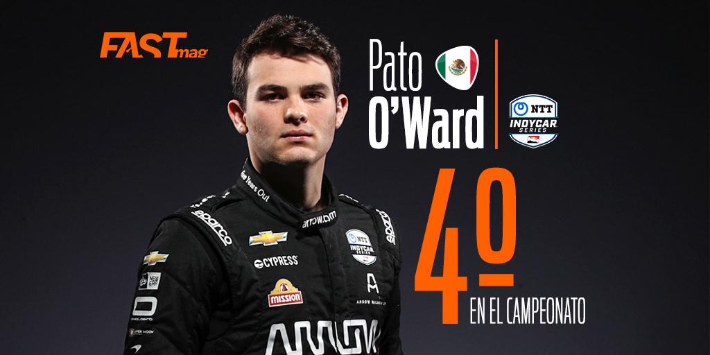 ¡CIERRA EN LO ALTO!  @PatricioOWard finaliza en 2º lugar en la final de la @IndyCar en St. Petersburg.  Con cuatro podios, una PP y todas las carreras terminadas, el mexicano finaliza 4º en su primera temporada completa @ArrowMcLarenSP https://t.co/8ZYJfjm2q2