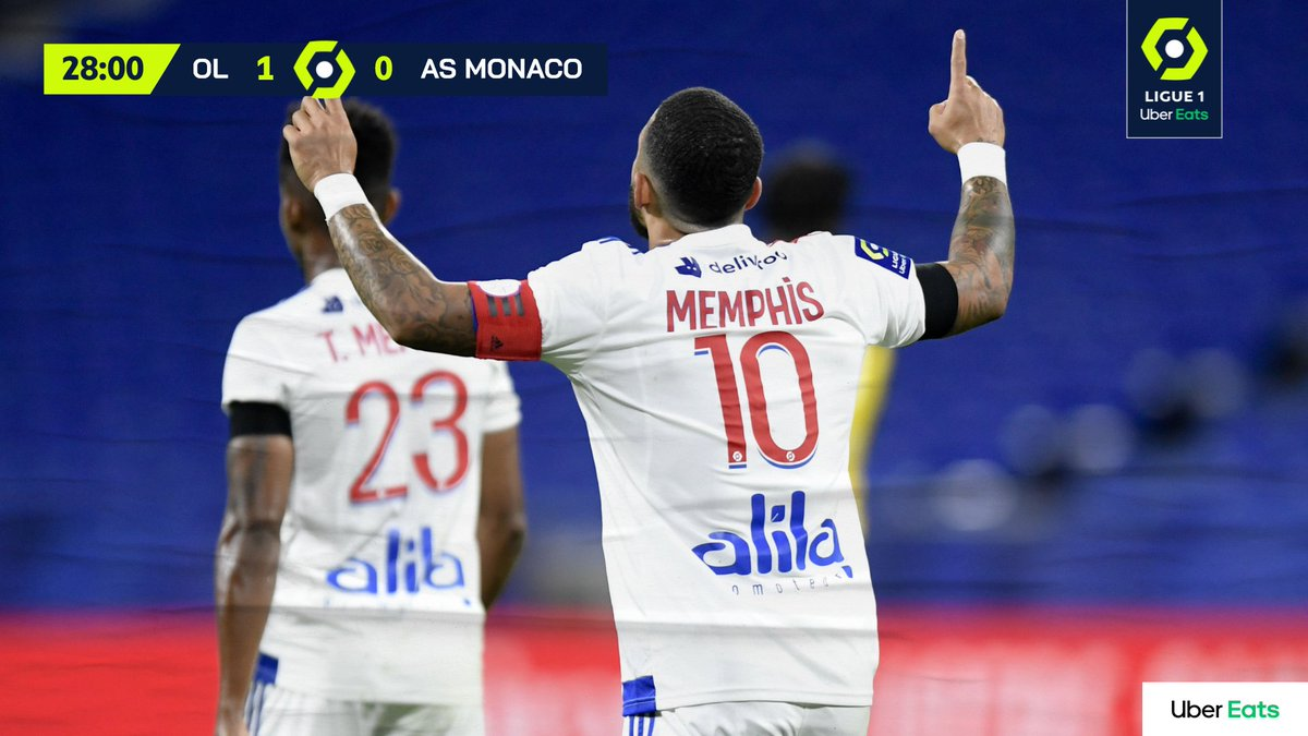 Ligue 1 Uber Eats On Twitter Memphis A Encore Frappe Olasm