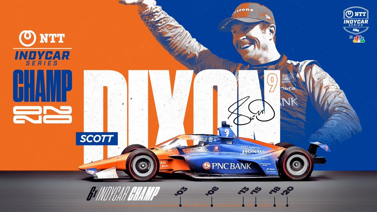 .@scottdixon9 IS A SIX-TIME @IndyCar CHAMPION! 🏆🏆🏆🏆🏆🏆 https://t.co/qNWCfnGtxS
