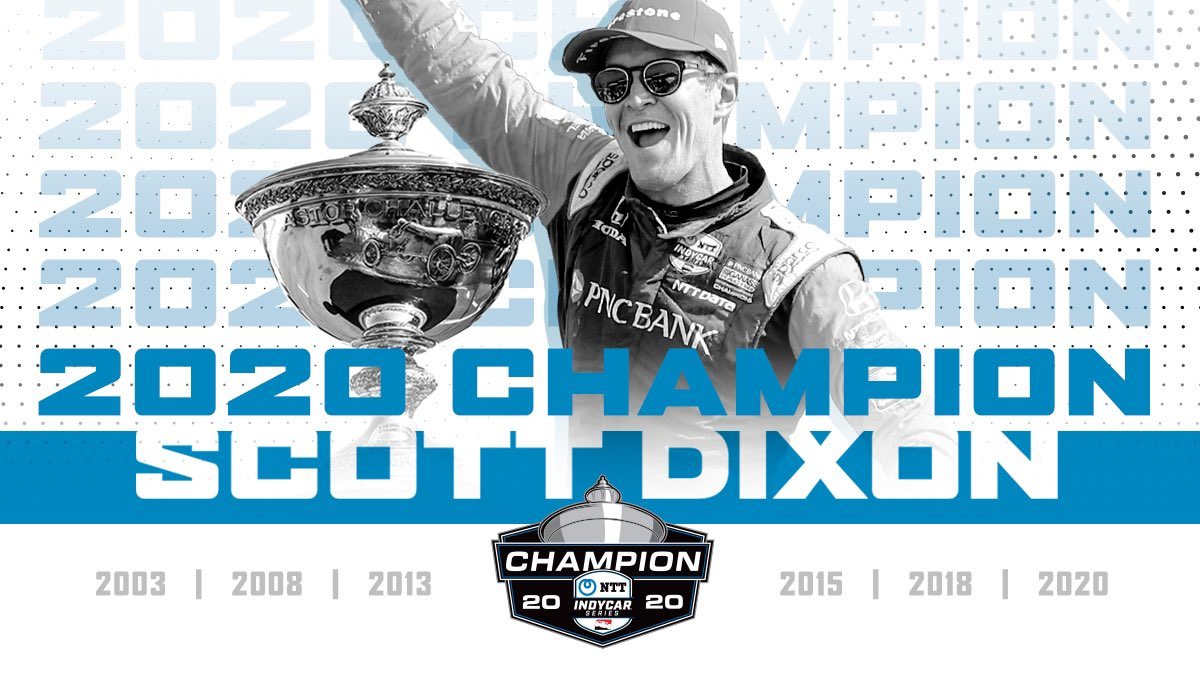 And he does it again, @ScottDixon9 is now a six-time #INDYCAR Champion. https://t.co/eh7O4XcxzC