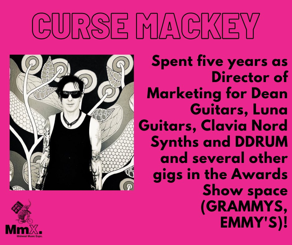 Curse has great experience in the music industry as a performer and as a business man! Register now to join Curse Mackey in a conversation with Martin Atkins on Oct. 28th at 12PM CST! https://t.co/Al10IHp9cd  @marteeeen @CurseMackey @DeanGuitars @lunaguitars @ddrumUSA #emmys #diy https://t.co/hzrtg0qwvP