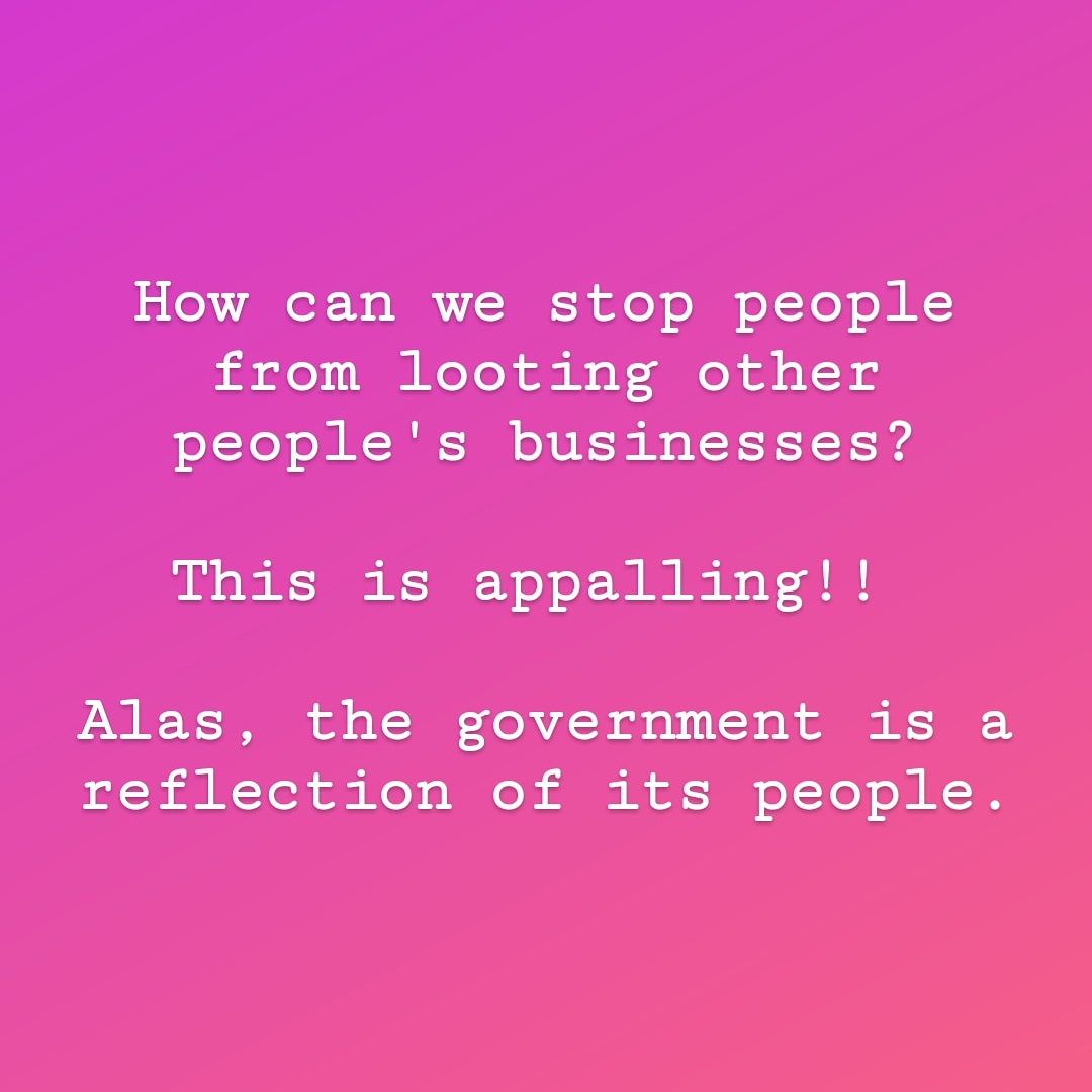 Stop looting!!! Stop encouraging  people to loot!!! It's funny now until it gets to you. If this doesn't stop, it's only a matter of time before the homes aren't safe.  #StopLooting #StopStealing #Sunday #BePatriotic #Nigeria https://t.co/CrVVvwWq4J