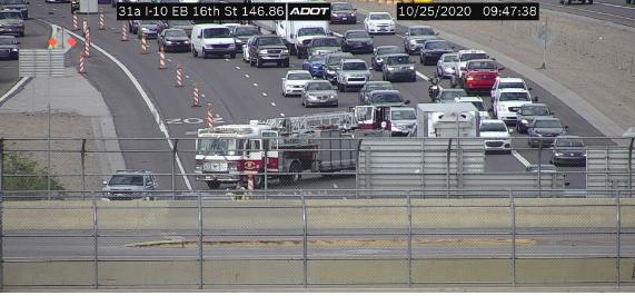 *CRASH* I-10 EB near 16th St.: Right lane closed for a crash. #Phxtraffic