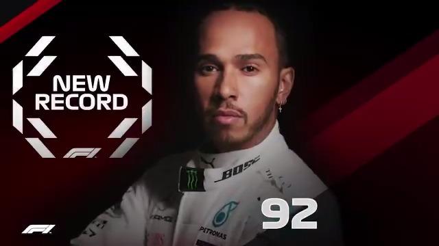 1 to 92 🏆  Count them up 🤩  #PortugueseGP 🇵🇹 #F1 @LewisHamilton https://t.co/zzk9yB4f41