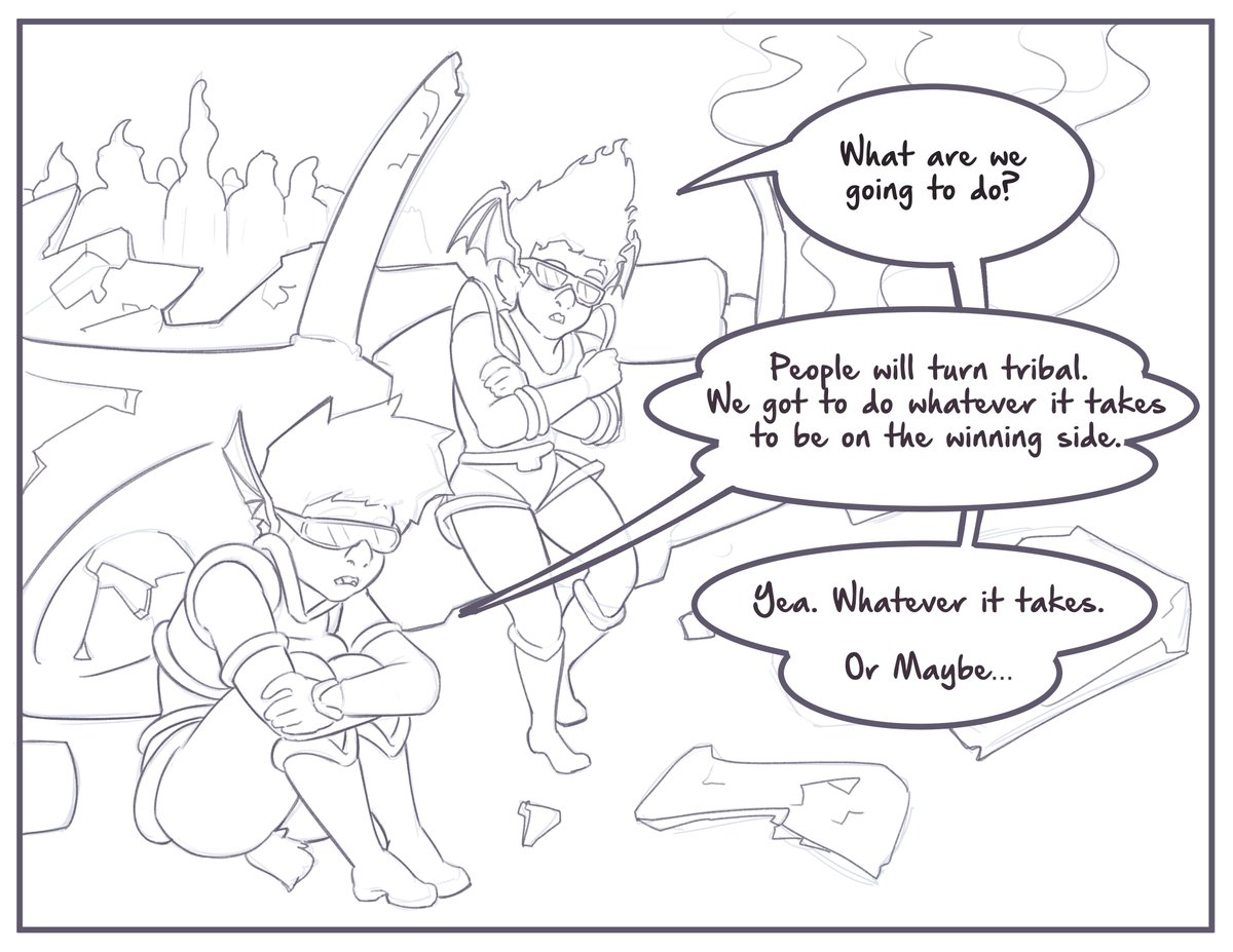 Stranded on an alien planet. Vide and Lappel concoct a strategy for survival and have set their eyes on Rannath. Making alliances, forging bonds...deep bonds. com by @Luxar92   #shortstack #comic #art #drawing #furry #anthro #elf https://t.co/SEkIcJQQA4