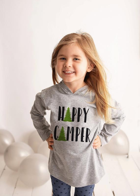 Camping Shirt - Happy Camper Hoodie - Hiking, https://t.co/PcRGUgBdWn #toddlerpullover #summerhoodie #outdooradventure #outdoorshirt https://t.co/zMSrxTtLLo