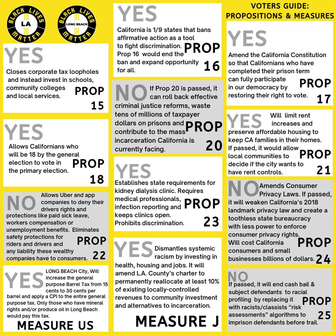 a dope CA voter guide from @BLMLA. this + vote j*ckie l*cey the hell out!
