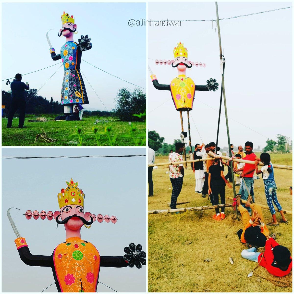 Dussehra celebration in Haridwar . . #haridwar #RavanDahan #Dussehra #Dusshera2020 #uttarakhand https://t.co/MuwZzgFaUw