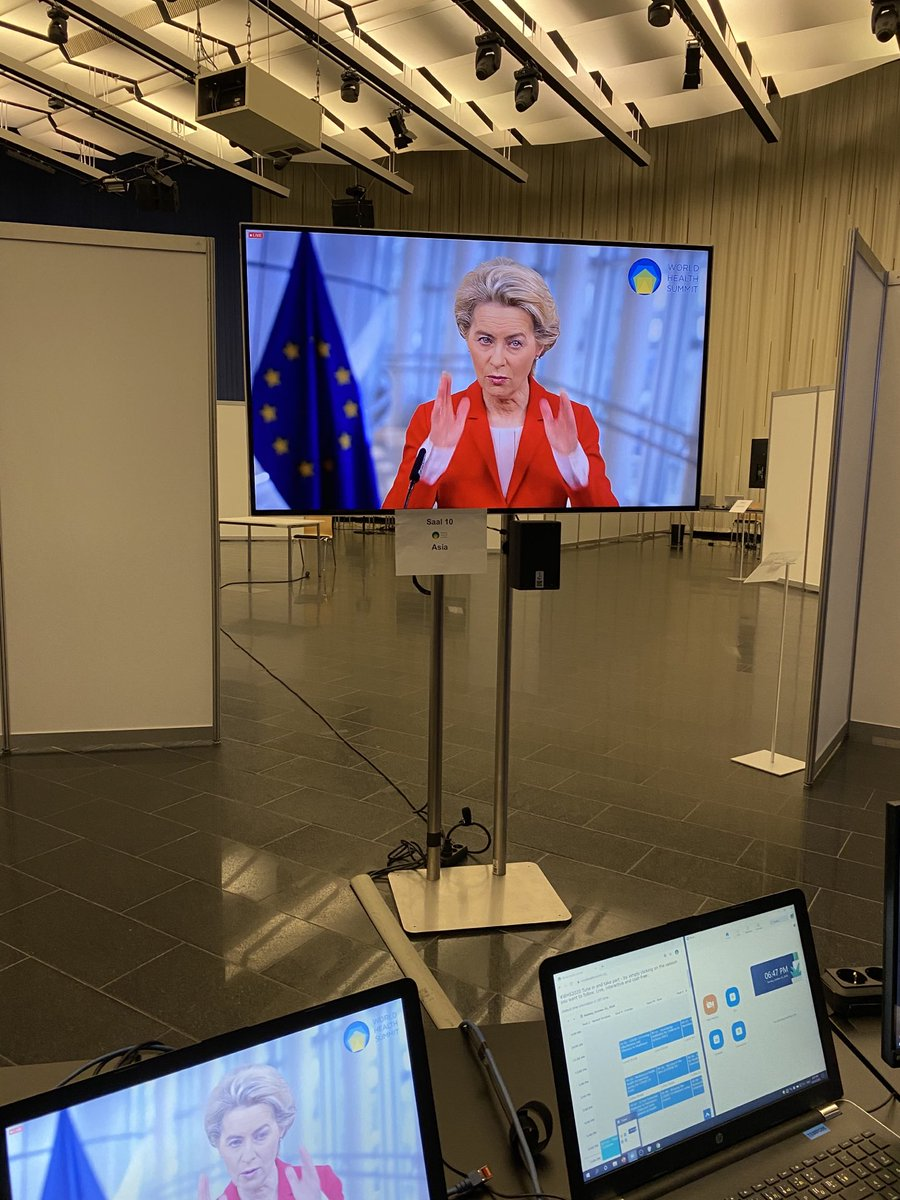 @vonderleyen @EU_Commission at the digital opening of #whs2020 with strong messages