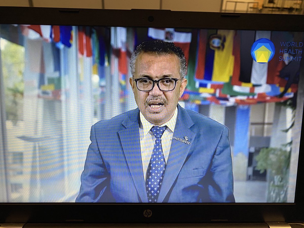 """#whs2020 digital opening: @WHO DG @DrTedros: """"A strong health system is a resilient health system."""""""