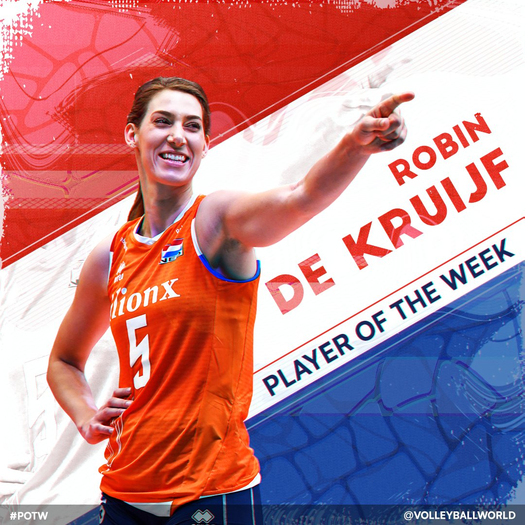 PLAYER OF THE WEEK: ROBIN DE KRUIJF (NETHERLANDS).  This week, get to know one of the world's best middle blockers with highlights including her Dream Team worthy performance at the 2019 FIVB Club World Championship!  #POTW STORY: https://t.co/apgNoEVIt4 https://t.co/UpPsMbR7XF