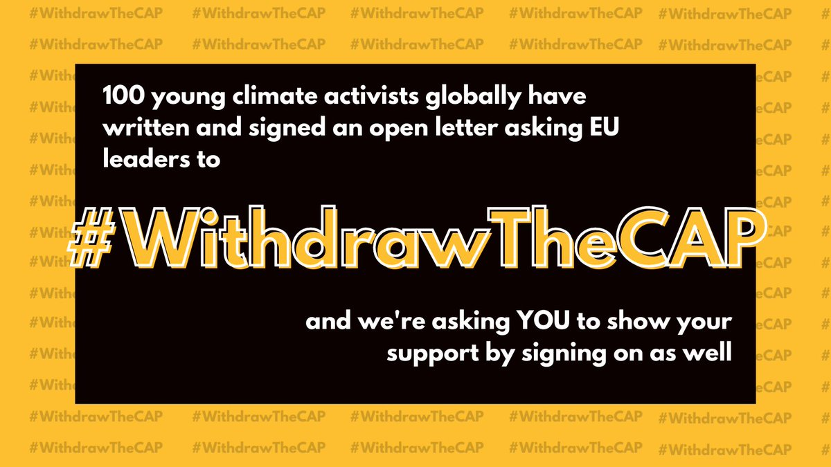 Were approaching 20 000 signatures! 🔥 Can you help us reach that? Sign our open letter at: WithdrawTheCAP.org The @EU_Commission must #WithdrawTheCAP!