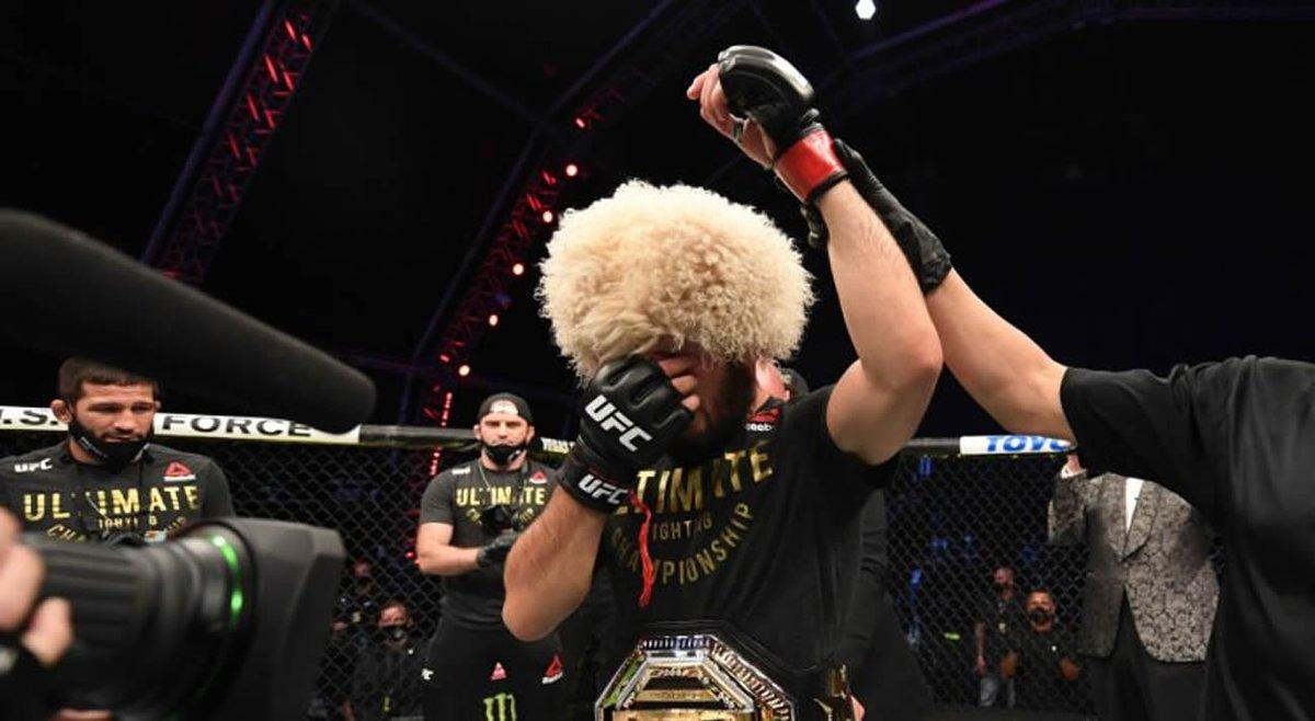 Khabib Nurmagomedov Retires From MMA After Defeating Justin Gaethje  https://t.co/nbI5yktSHD #Khabib #khabibnurmagomedov #khabibvsgaethje #KHABIBTIME #UFC254 #UFCFightIsland6 #ufc #MMA #MMATwitter https://t.co/E73Qn745Wl