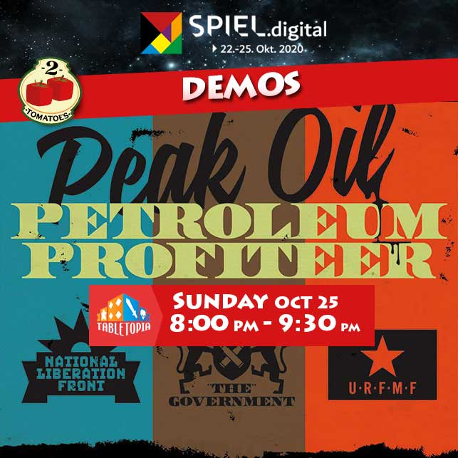 test Twitter Media - #5min to begin our #PetroleumProfiteer demo on @TabletopiaGames at #SPIELdigital! Our upcoming release in the #RetroFuturistic #Distopic world we begun in 2017 with #PeakOil  #SPIEL20 #spiel2020 https://t.co/59yIP8kFgn  #boardgames #peakoil https://t.co/Xmt2KM5YaP
