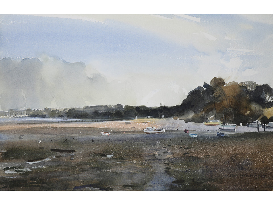 'River Orwell Estuary, Suffolk' by Jeff Harpham. Original signed & framed watercolour. #forsale #reduced  https://t.co/2XQsnLk5tj  #fineart #artgallery #artlover #originalart #paintings #suffolk #watercolour #orwell #riverorwell #estuary https://t.co/apY98hGg5O