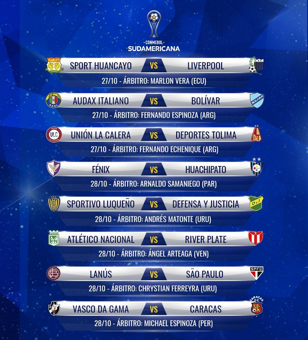 El martes 27/10 se reanudará la Copa Sudamericana.  Sp. Luqueño jugará el miércoles vs Defensa y Justicia, en Villa Elisa.  Sol de América recibirá el jueves a U. Católica.  Ambos partidos comenzarán a las 19.15 https://t.co/WM2xDy7hZS