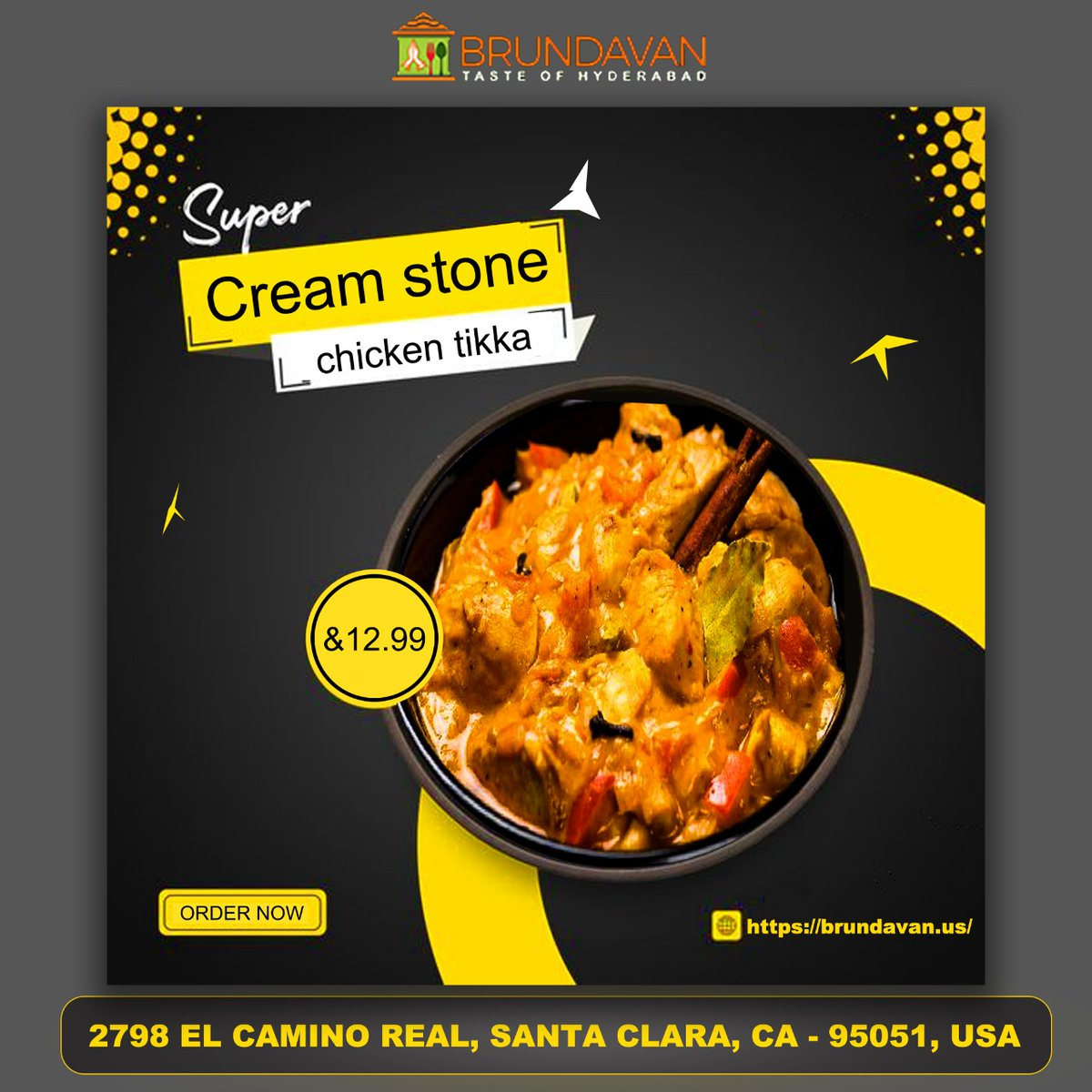 Order Now Today's Cream Stone Chicken tikka in Just 12.99$!  #CreamStoneChickentikka #CreamStone #Chickentikka #Nonveg #restaurant  #brundavanus #mealbrite #food #foodie #instafood #Linch #dinner #yummy  #delicious #foodlover  #foodstagram #instagood #cafe  #chef #hotel #love https://t.co/frJm342Xig