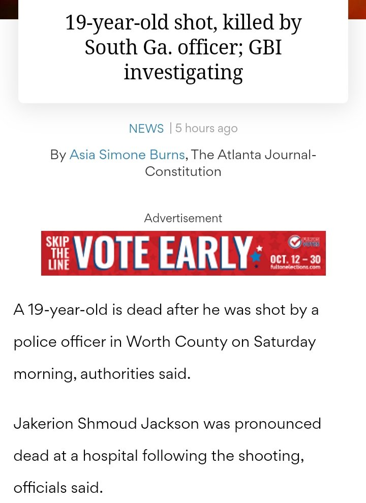 Saturday Morning in Worth County, GA, a Sylvester Pig Murdered A 19 Year Old  Read More Below::: https://t.co/ySixnO1jzH  #AtlantaProtests #AtlantaProtest #atlscanner #Atlanta #Georgia #WorthCounty #WorthCountyProtests #BlackLivesMatter #JusticeForXXX #JusticeForJakerionJackson https://t.co/72fvvlI6Gz