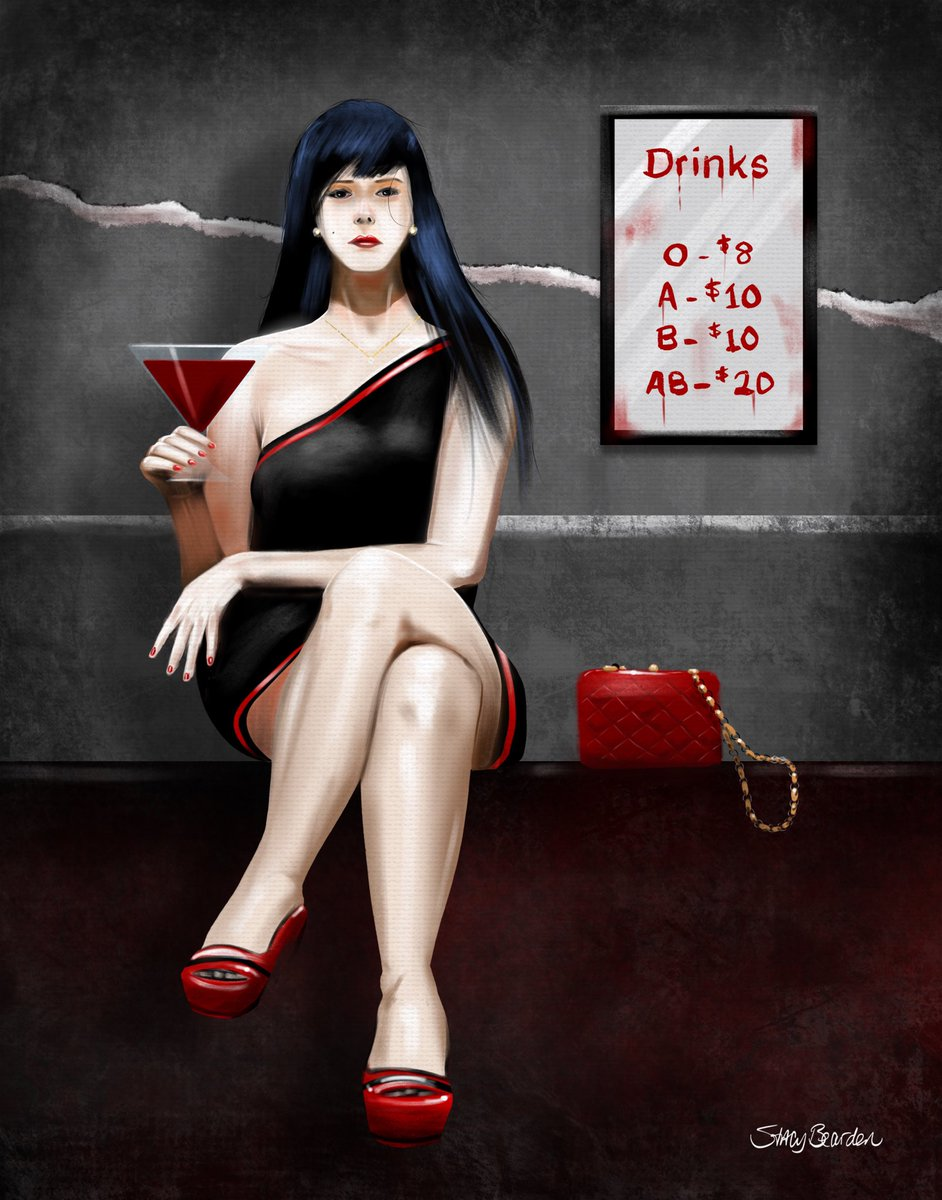 It's spooky month. Here's a #vampire at a club. #Halloween #commission #art #artwork #artworks #artist #fineart #artworks #artgallery #artforsale #artforsalebyartist #painting #paintings #drawing #drawings #contemporaryart #watercolor #modernart https://t.co/pF4jInOT8o