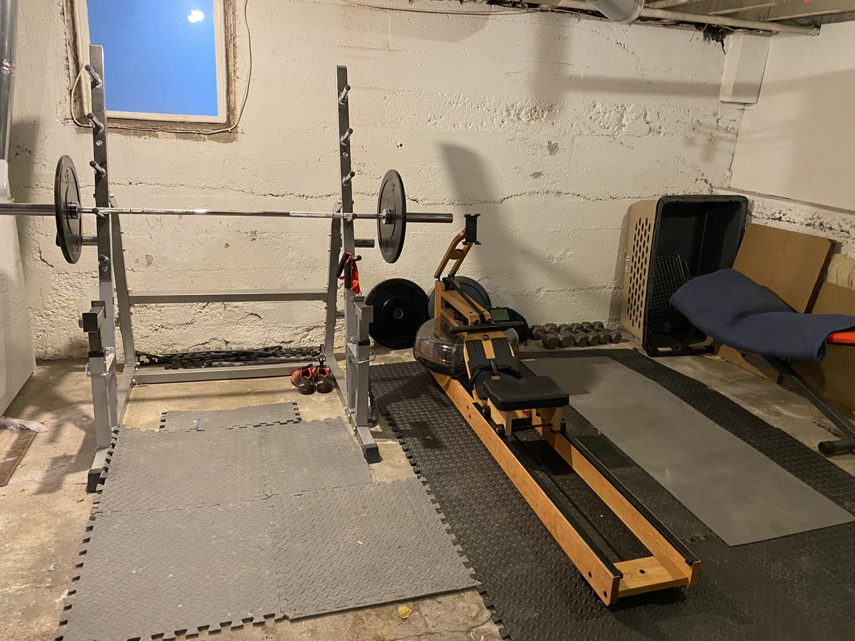 It took 6 months to get it sorted, but it's clear that the diy home gym is going to be the key to surviving the rest of pandemic. #Mentalhealth is real peeps, find something, anything, that works for you. #march238th https://t.co/nchBpKuqzK