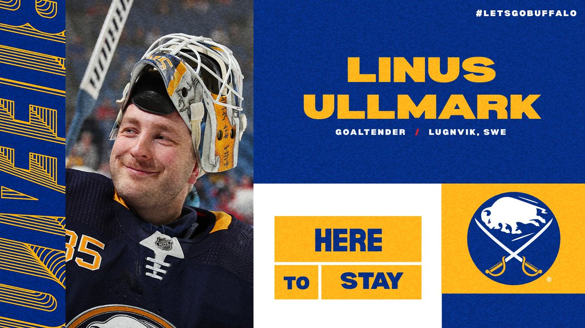 Sabres sign Linus Ullmark to 1-year deal