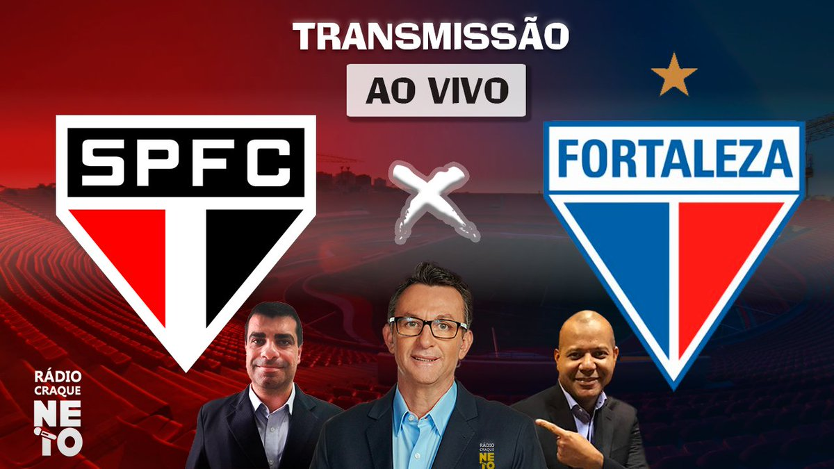 @FortalezaEC Estamos AO VIVO na Rádio Craque Neto para a transmissão entre São Paulo x Fortaleza pela Copa do Brasil. Acompanhe em: https://t.co/RWH7vPiZqo https://t.co/rkkYBP3CU0