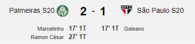 Final Palmeiras 2 x 1 São Paulo Brasileiro Sub 20 https://t.co/rx2huylhP0