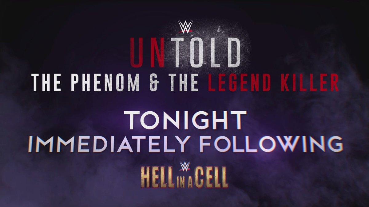 #WWEUntold: The Phenom vs. The Legend Killer streams right after #HIAC. 30 Days of the Deadman has BEGUN! #Undertaker30 ▶️ wwenetwork.com
