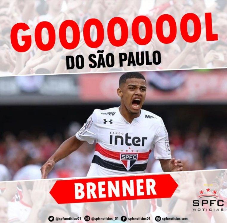 GOOOOOOOOOOOOOOOOL  Brenner amplia para o Tricolor!   São Paulo 2 x 0 Fortaleza https://t.co/2PDGMqd44S