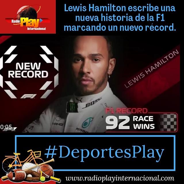 📰.#25Oct - .#DeportesPlay🚘 ▶️ #F1 🏎: Tras ganar el Gran Premio de Portugal 🏆, Lewis Hamilton 🏴 llegó a las 92 victorias en el circuito, superando el record anterior propiedad de Michael Schumacher 🇩🇪.  Una nueva historia se esta escribiendo en la #Formula1.  #Sport #Deportes https://t.co/eWNlPd4q2B