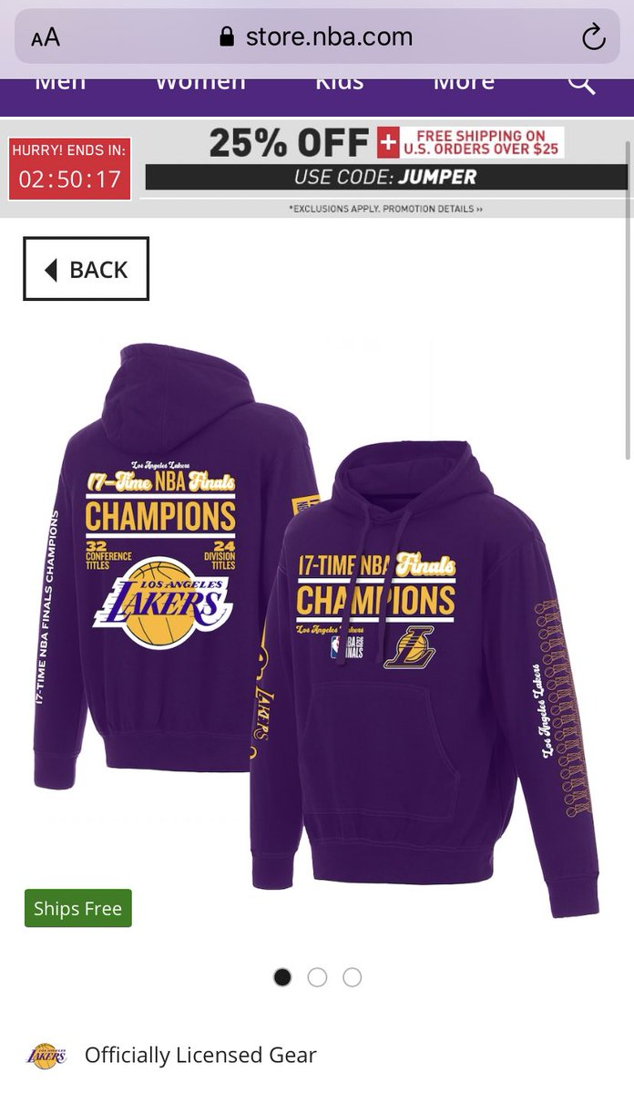 Can't wait to wear it on we tee time... don't like when I see LA Lakers merchandise cuz all money would be gone for it #lakersaddication #lakersholic https://t.co/E7qQuhuvSX