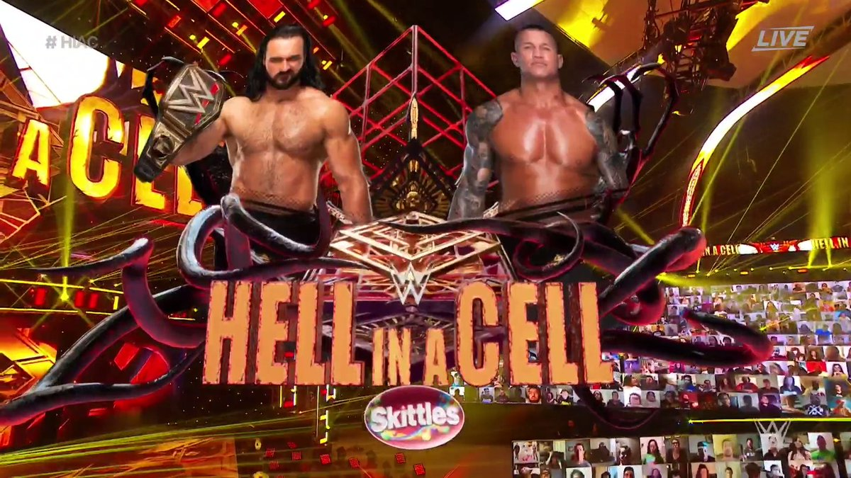 UP NEXT: @DMcIntyreWWE enters #HellInACell for the very first time to defend his #WWEChampionship against @RandyOrton! #HIAC