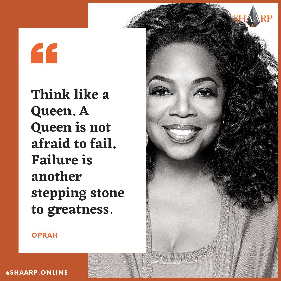 """""""Think like a Queen. A Queen is not afraid to fail. Failure is another stepping stone to greatness."""" - Oprah #connect #evolve #mind #body #soul #self #aduarte7 #coachnutricional #instacoach #mindset #success #motivation #personaltrainer #coaching https://t.co/IalRVm388j"""