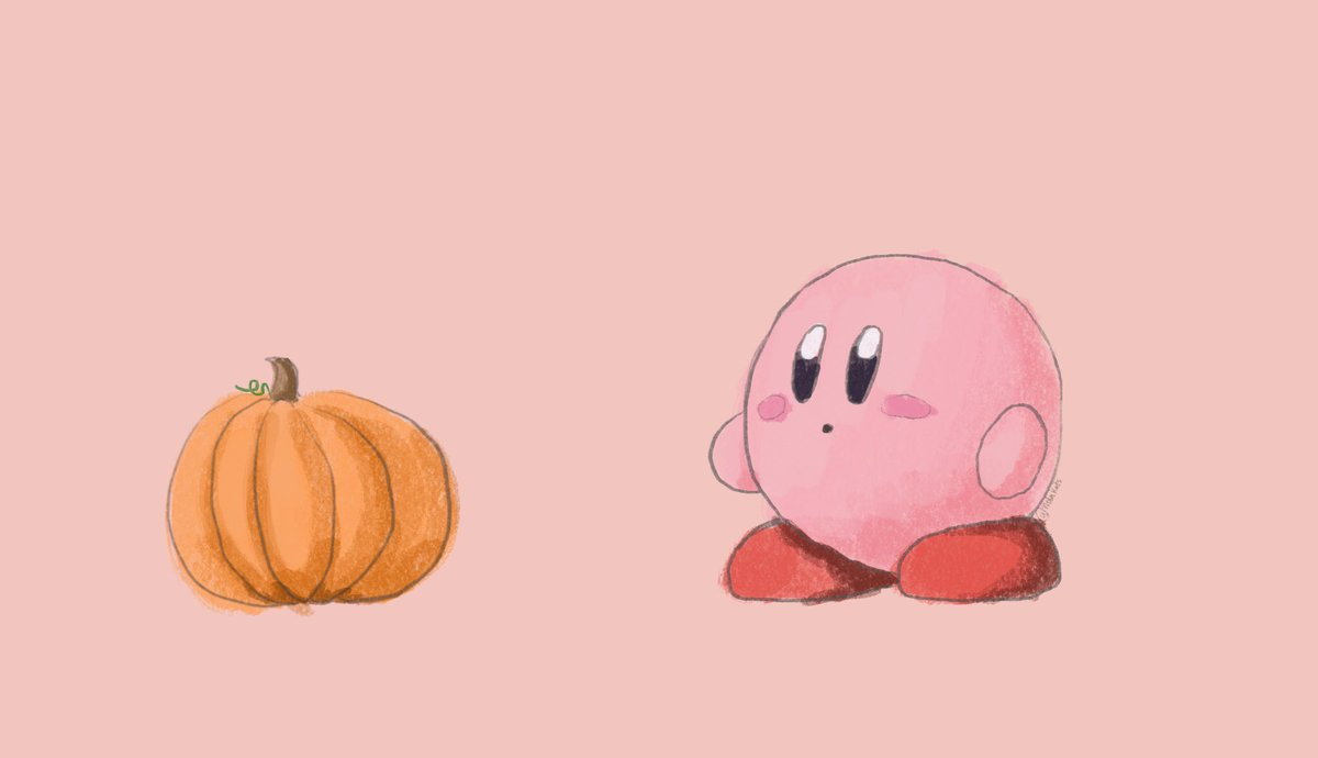 I drew a pumpkin kirby. something about this season that feels wholesome https://t.co/P13Tio9AuC
