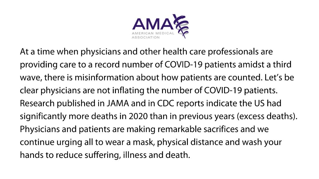 Let's be clear, physicians are not inflating the number of #COVID19 patients. https://t.co/3wA8mPYEwU https://t.co/fGodWbGwm2