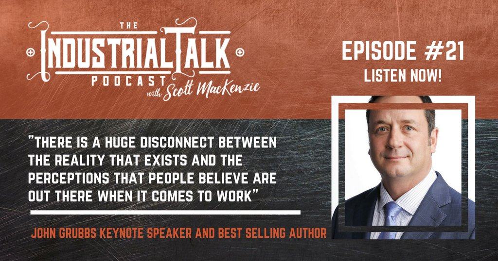Listen to John Grubbs at https://t.co/qc6OpGOHul about the 3-questions companies need to know when managing through the millennial workforce #podcasting #industrialtalk https://t.co/5YJPKijQts