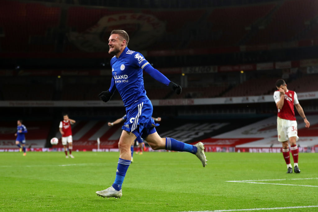 Número de gols marcados por Jamie Vardy, na Premier League, contra o