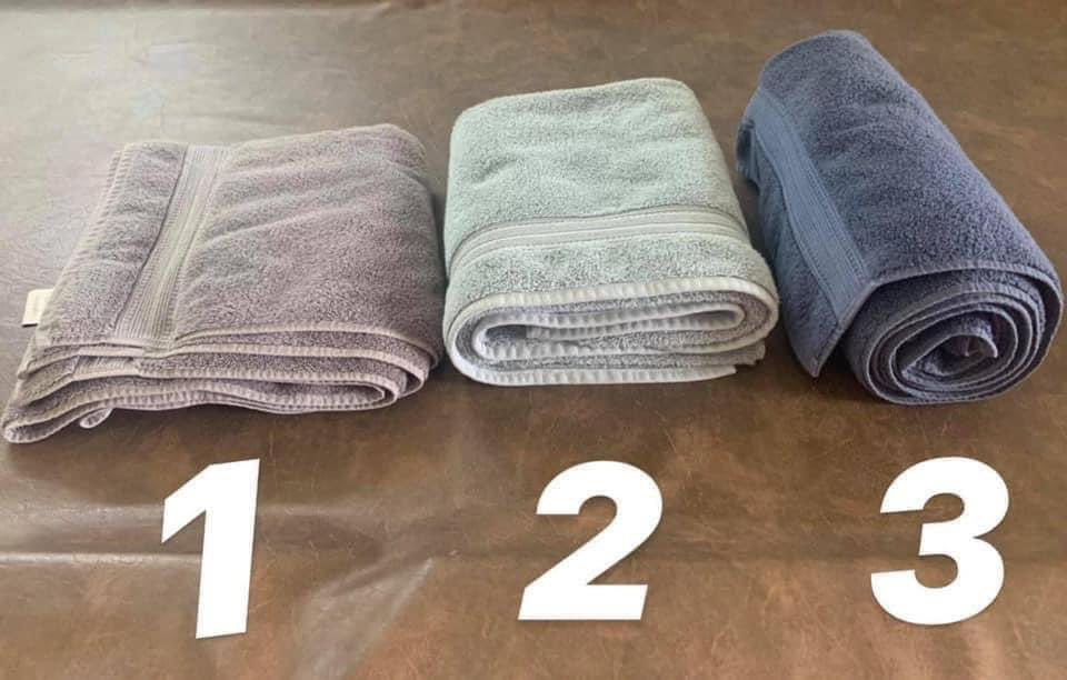 Which is the correct way to fold towels?